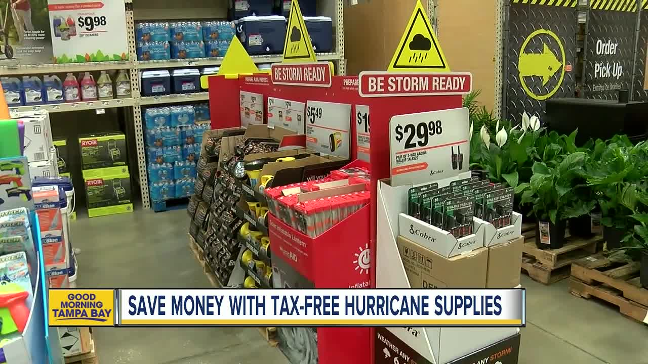 Hurricane supplies sales tax holiday in Florida ends