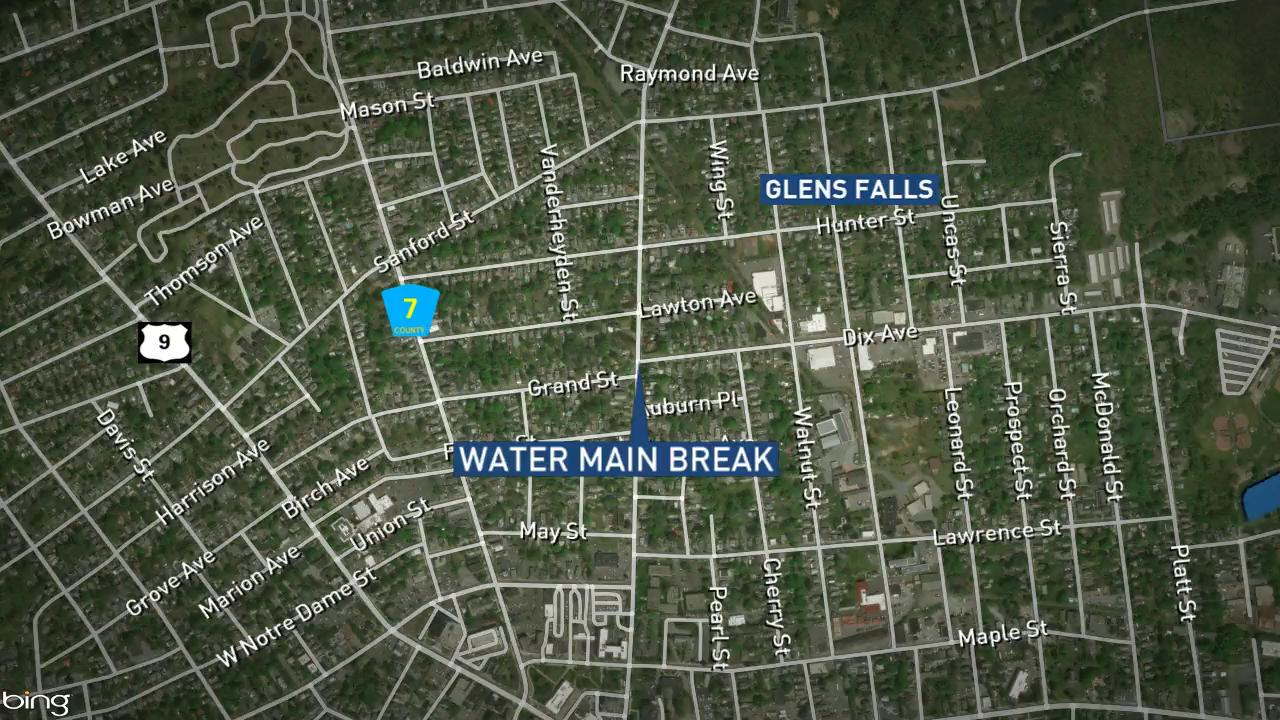 "Officials: Glens Falls crews repairing  ""substantial"" water main break"