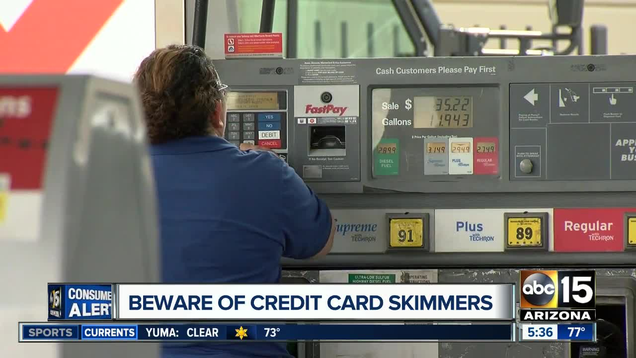 Credit card skimmers in Arizona: 146 found since January 2018