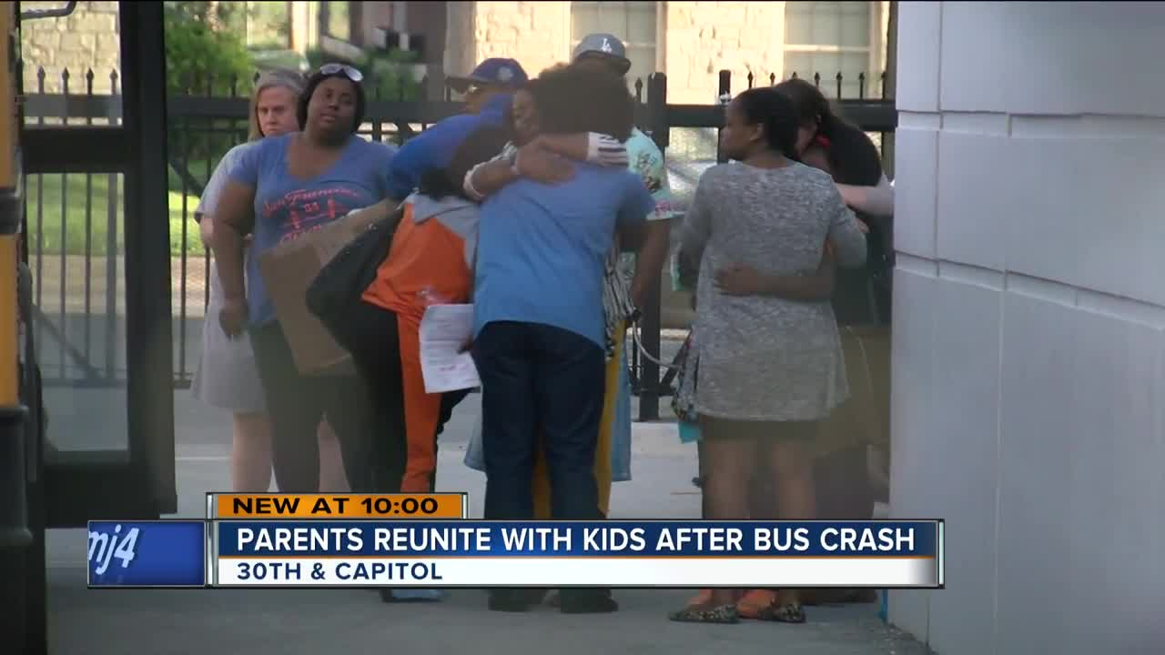 Parents reunited with students after school bus crash near