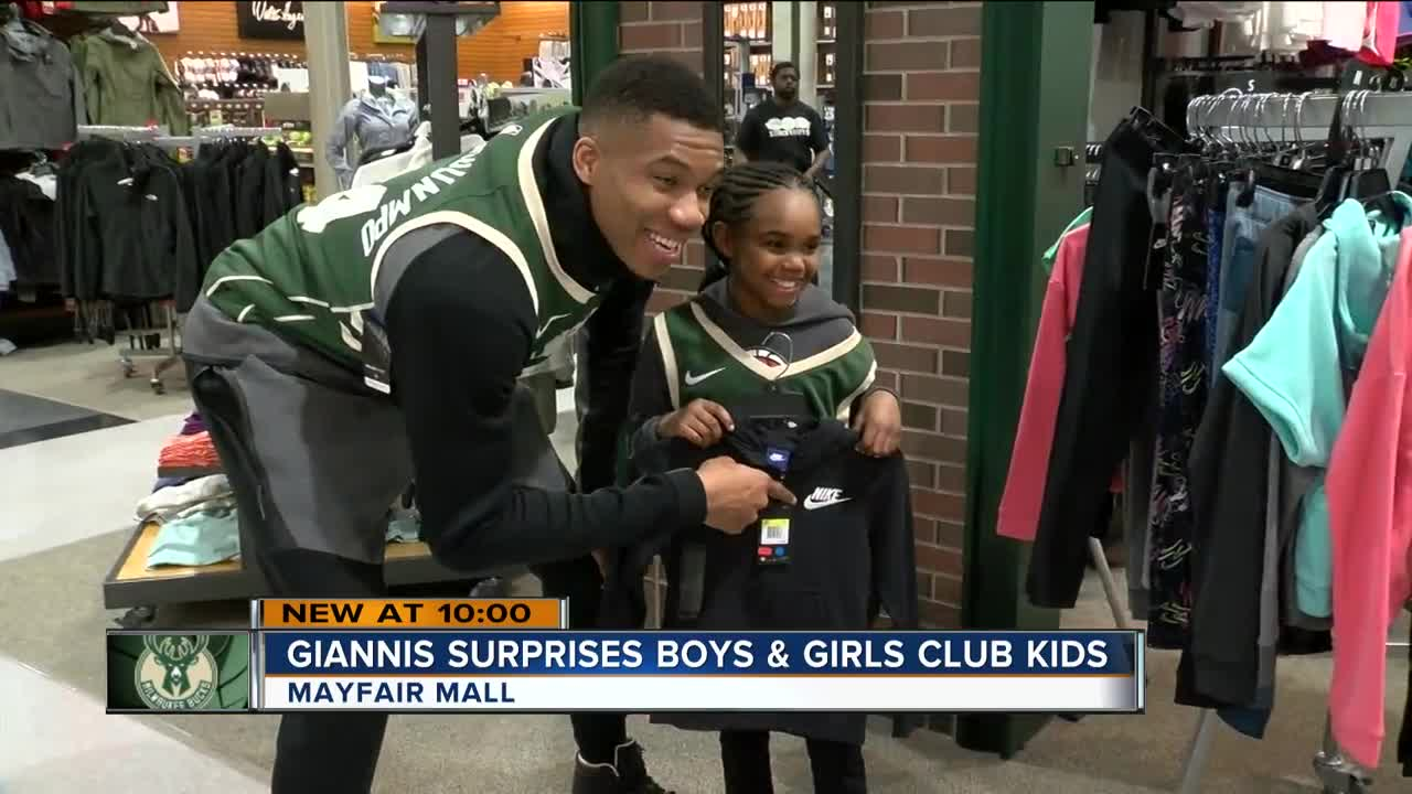 new style 7c52c a2d53 Giannis Antetokounmpo surprises kids with shopping spree ...