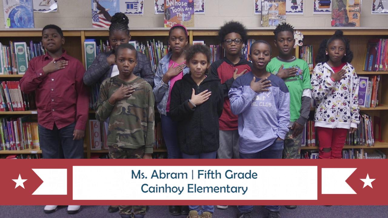 PLEDGE OF ALLEGIANCE for May 21, 2018