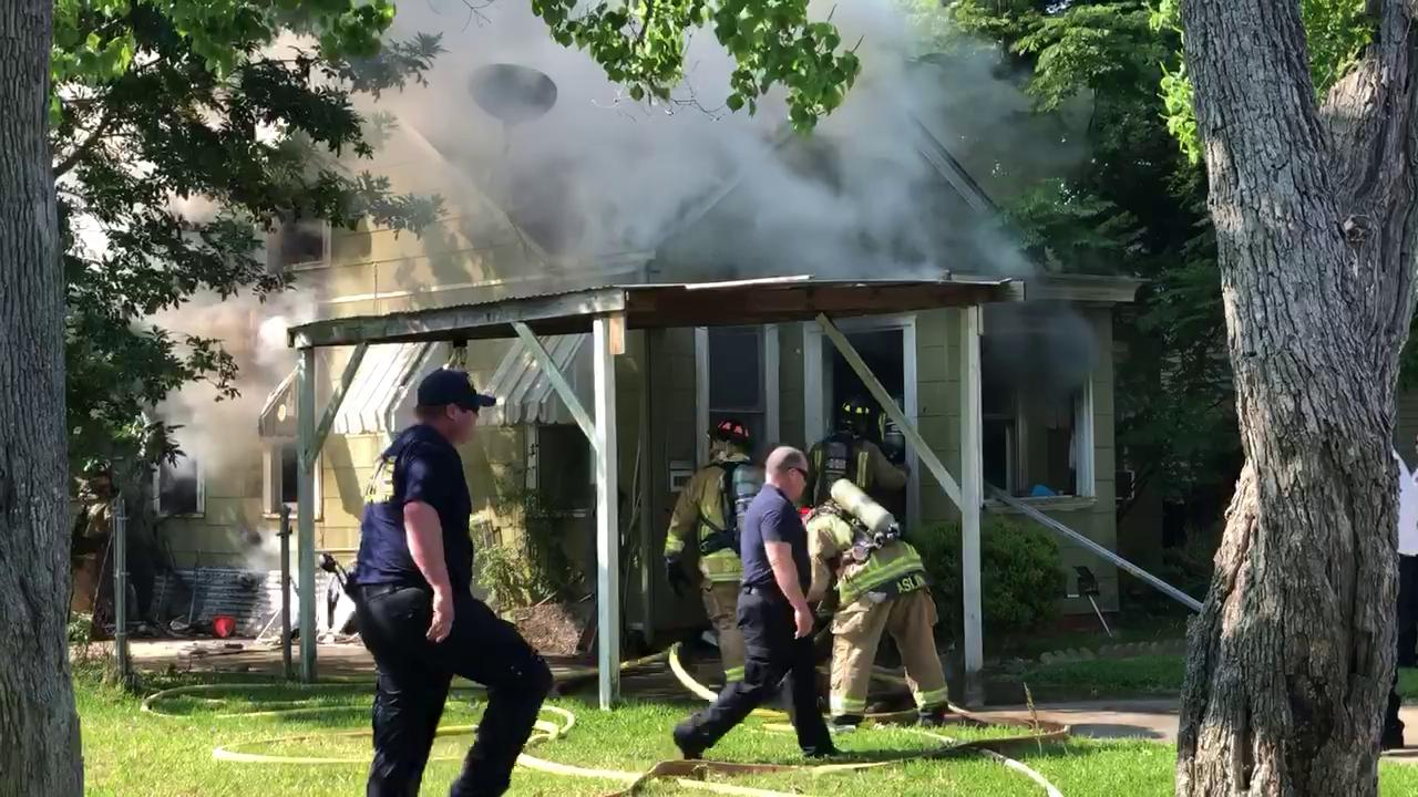 VIDEO: Fire burns PA home