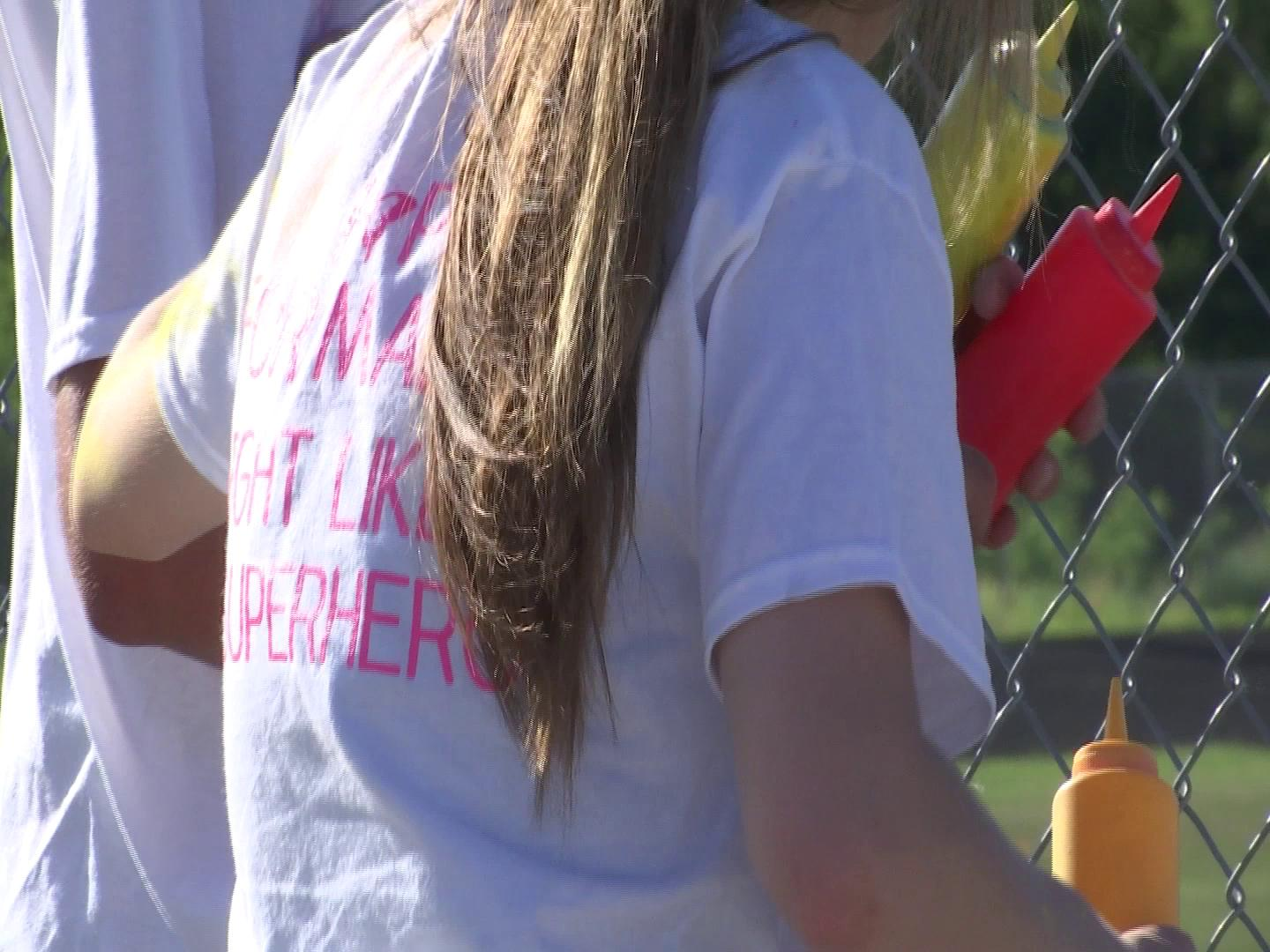 Running for 'Hope for Maddie' during 33rd Annual Milan Old Timers Reunion
